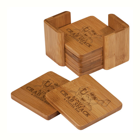 Bamboo Complete Coaster Set - Square
