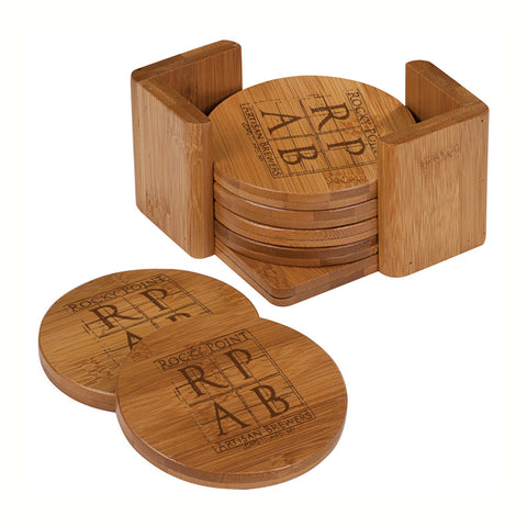 Bamboo Complete Coaster Set - Round