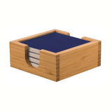 Bamboo Complete Coaster Set - Colored Square