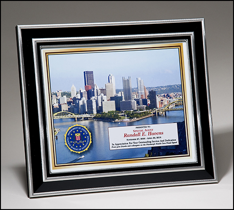 Ci And Aluminum Frame Plaque