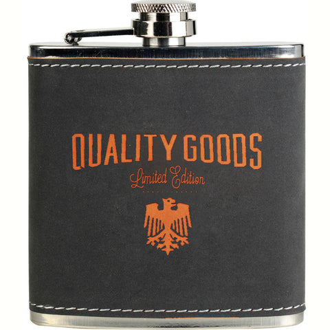 Stainless Steel Flask Leatherette Dark
