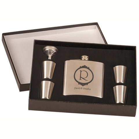 Stainless Steel Flask Set In Case