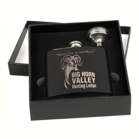 Matte Black Flask Set
