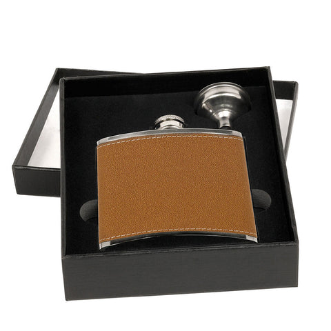 Leather Flask Set