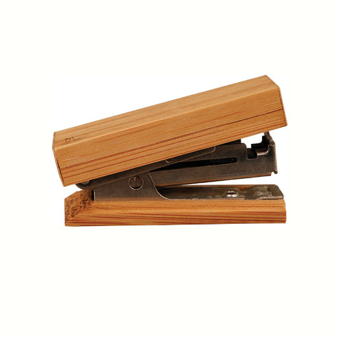 Bamboo Desk Accessory - Mini Stapler