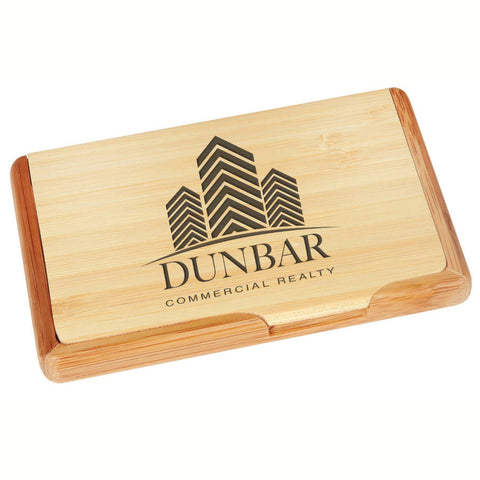 Bamboo Desk Accessory - Business Card Holder