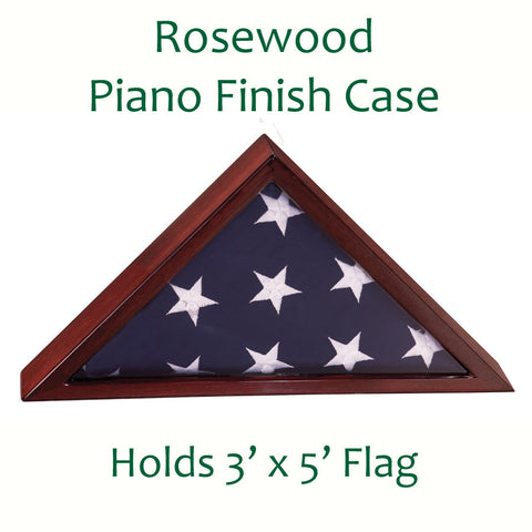 Flag Display Case Rosewood Piano Finish
