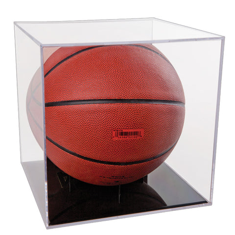 Basketball Soccer Ball Display Case With Holder