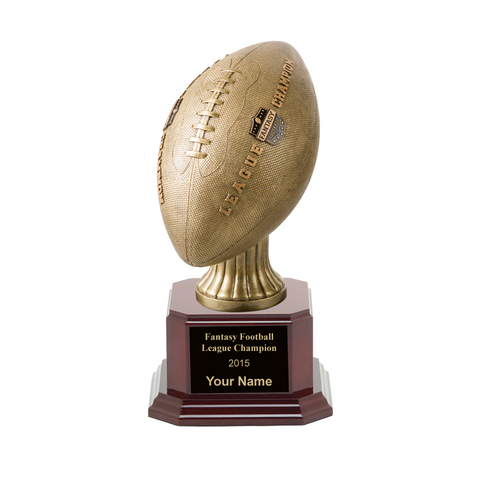 Fantasy Football League Champion Rosewood Trophy