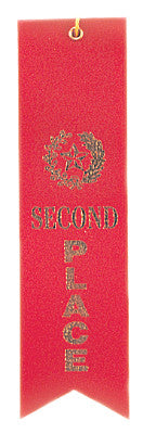 Carded Ribbon Red 2Nd Place