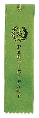Carded Ribbon Green Participant