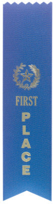Pinked Top Ribbon Blue 1St Place