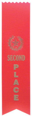 Pinked Top Ribbon Red 2Nd Place