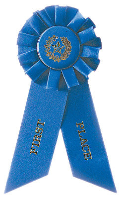 Rosette Ribbon Blue 1St Place