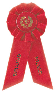 Rosette Ribbon Red 2Nd Place