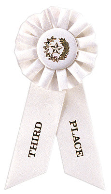 Rosette Ribbon White 3Rd Place