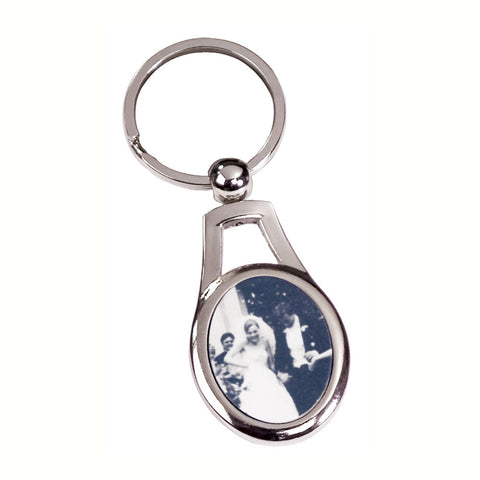 Silver Oval Key Ring