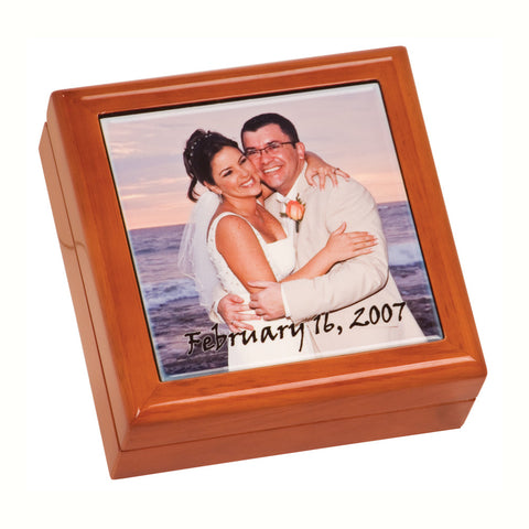 Gift Box W/Ceramic Tile