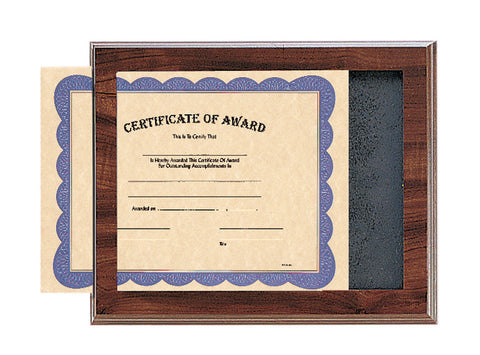 Cherry Finish Certificate Plaque