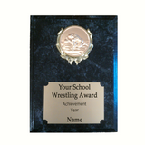 Wrestling Plaque - Black Marble