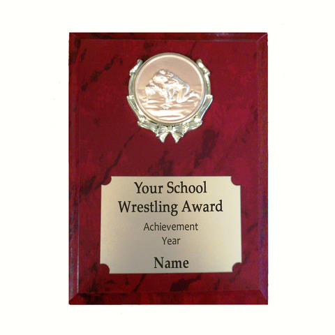 Wrestling Plaque - Red Marble