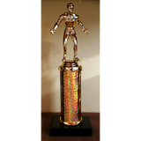 Wrestling Series Column Trophy