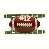 License Plate - Football Shaped