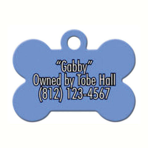White Aluminum Dog Bone Pet Tag