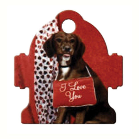 White Aluminum Fire Hydrant Pet Tag