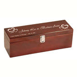 Wine Set - Rosewood Piano Finish Box