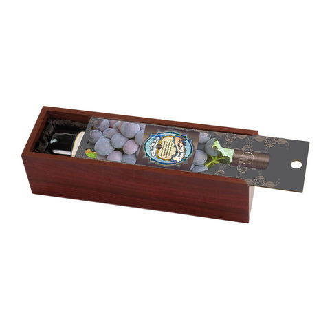 Wine Box - Rosewood with Slide Out CI Lid