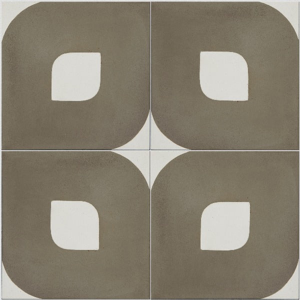 Encaustic Cement Tile Eye Warm Grey