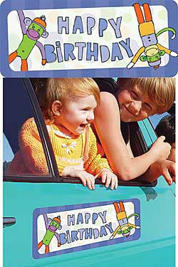 Happy Birthday Car Magnet - Chinaberry Books, Toys & Treasures