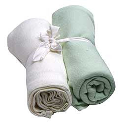 Organic Swaddle Blankets-Solids - Chinaberry Books, Toys & Treasures
