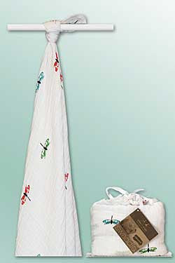 Organic Muslin Swaddle Blanket-Dragonfly - Chinaberry Books, Toys & Treasures