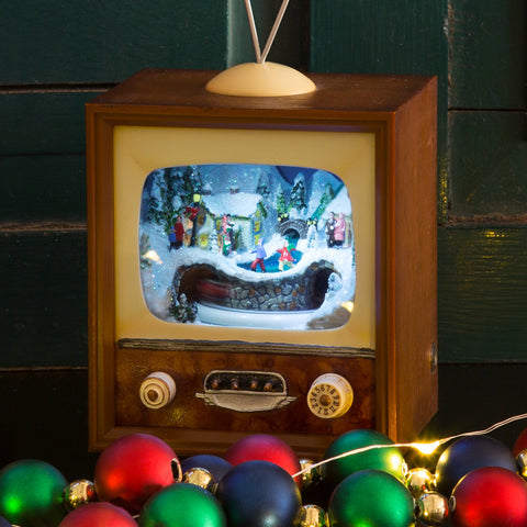Small Musical Vintage TV - Chinaberry