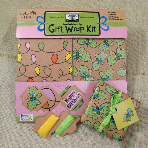 Butterfly Kisses Gift Wrap Kit - Chinaberry Books, Toys & Treasures