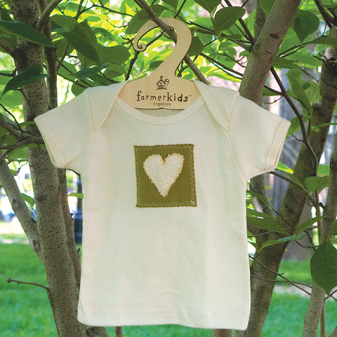 Natural Heart Organic Cotton Infant Tee-6-12 mos.