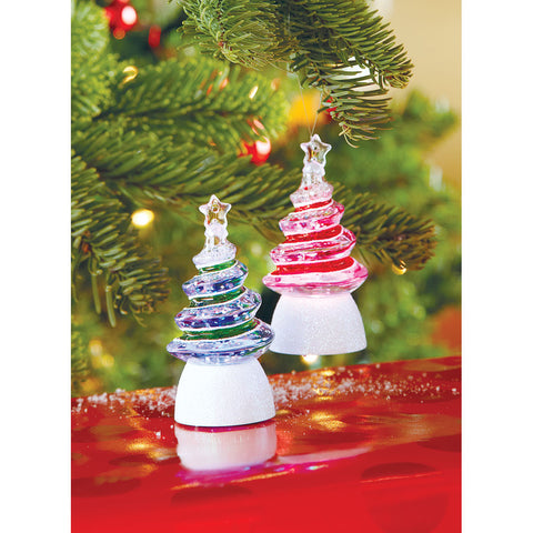 Light-Up Christmas Tree Ornaments Set of 2 - Chinaberry Books, Toys & Treasures
