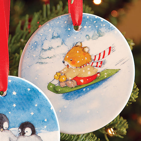 Snow Day Porcelain Ornament - Chinaberry Books, Toys & Treasures