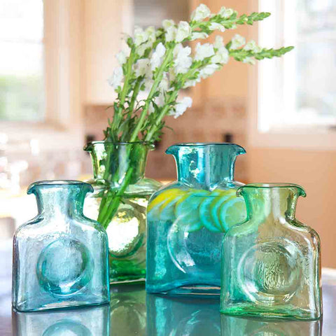 Blenko Glass Pitcher- Large Green- Chinaberry