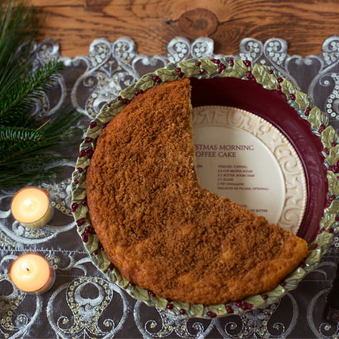 Christmas Morning Coffee Cake Dish - Chinaberry Books, Toys & Treasures
