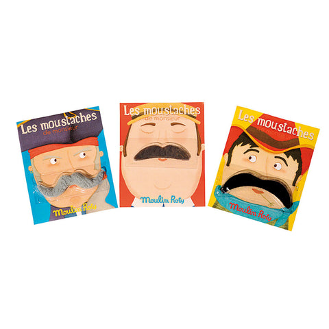 Les Moustaches Set of 3 - Chinaberry Books, Toys & Treasures