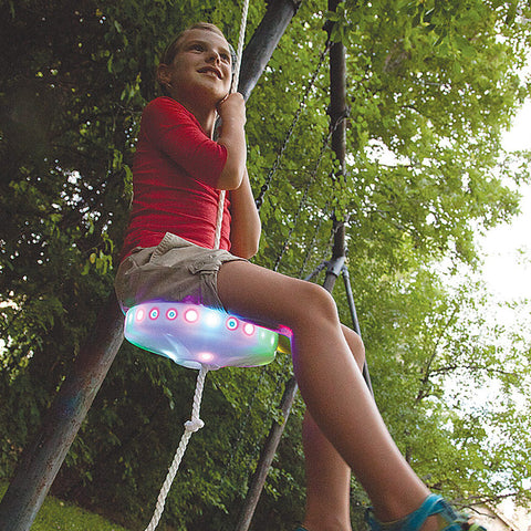 Slackers Night Riderz Zipline LED Seat - Chinaberry
