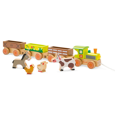 Janod Farm Train - Chinaberry Books, Toys & Treasures