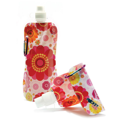 Pocket Bottle with Brush-Flowers - Chinaberry Books, Toys & Treasures - 1