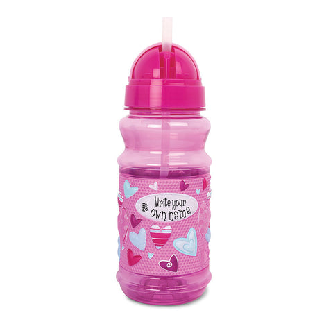 My Very Own Drink Bottle-Pink Hearts - Chinaberry Books, Toys & Treasures