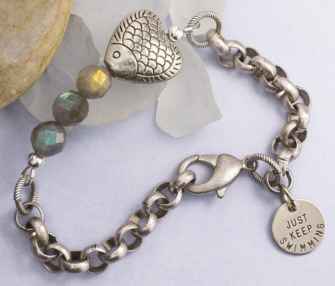 Just Keep Swimming Bracelet- Isabella Catalog