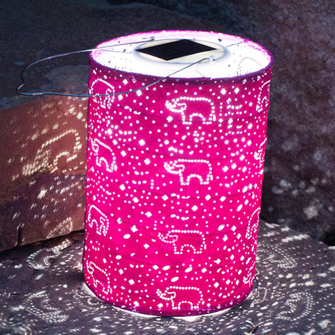 Stella Solar Dream Lantern - Fuchsia - Chinaberry