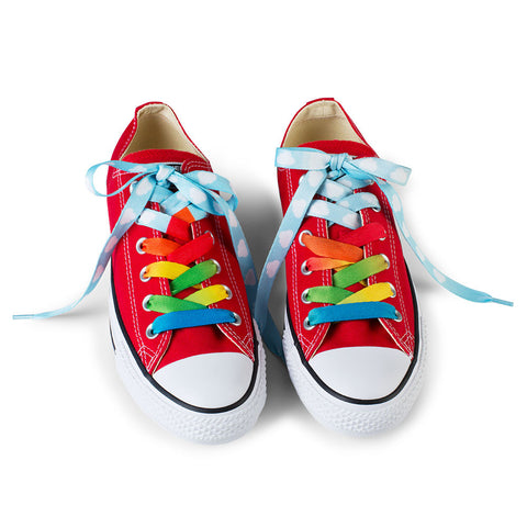 Crazy Shoelaces - Rainbow - Chinaberry Books, Toys & Treasures - 1
